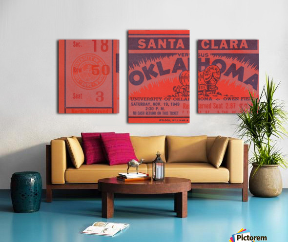 1949 oklahoma sooners bud wilkinson undefeated sooner team Canvas print