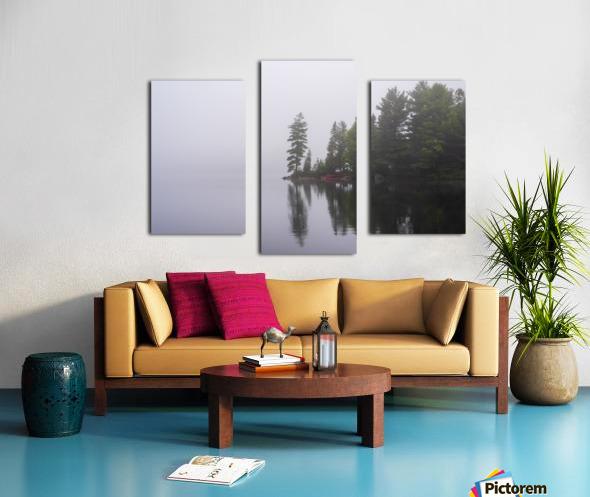 Koshlong Lake Fog Canvas print