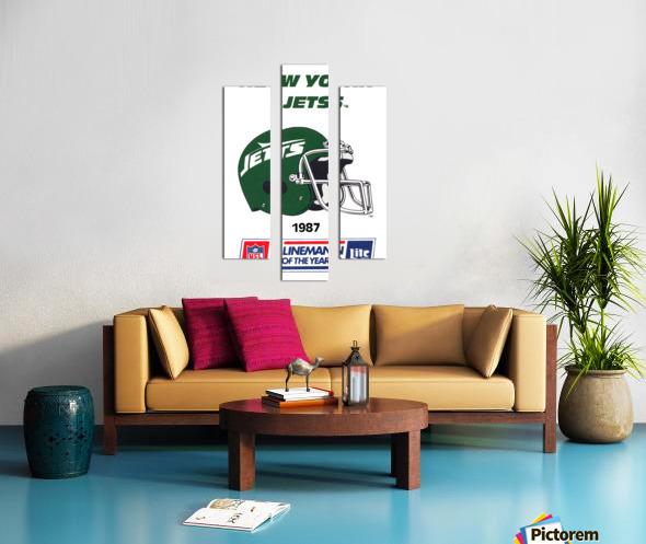 1987 New York Jets Helmet Art Canvas print