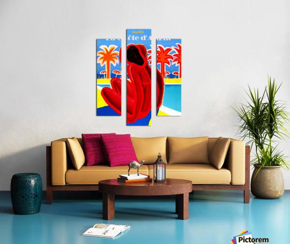 Cote D Azur Canvas print