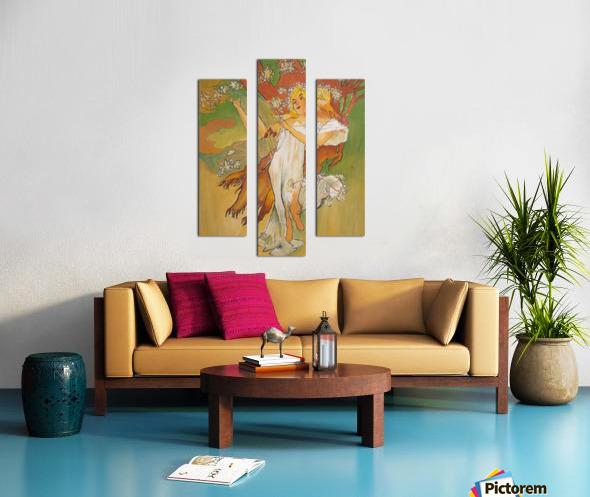 Mucha Spring Canvas print