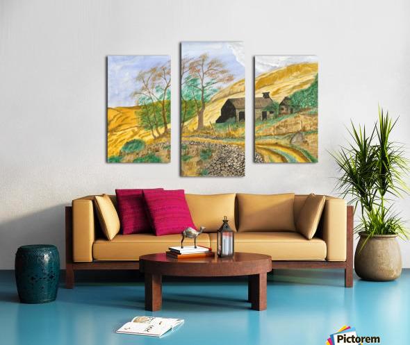 Falstone walk Canvas print