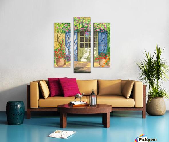 Rose cottage Canvas print