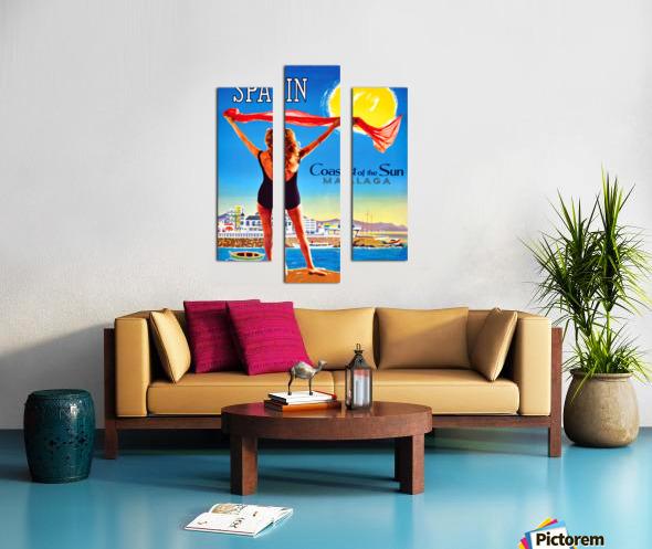 Girl on Malaga Beach Canvas print