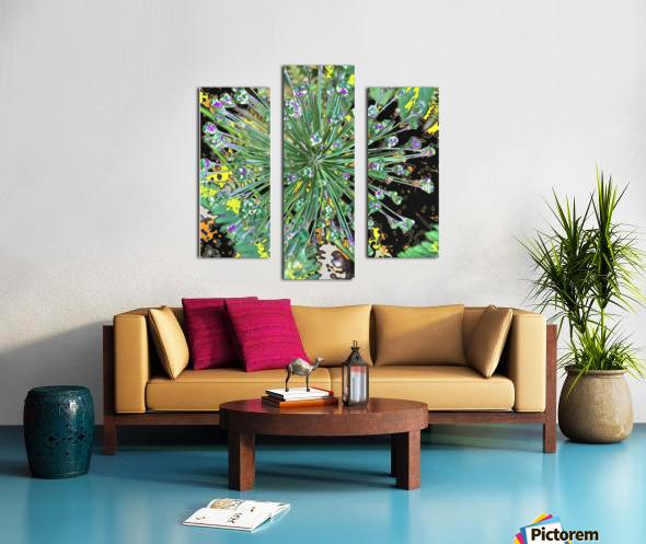 Alium with Purple Canvas print