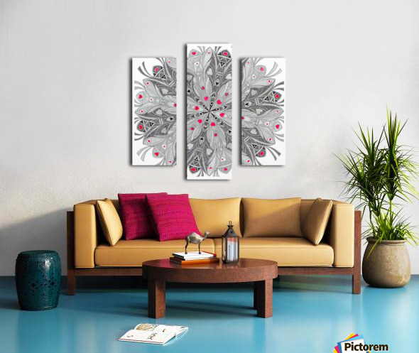 flower of hearts Impression sur toile