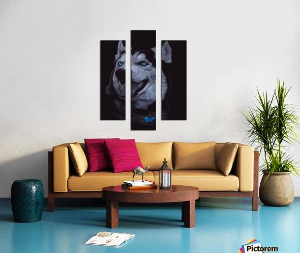 HUSKY_COLOR PENCIL_65.50X80.50 Canvas print