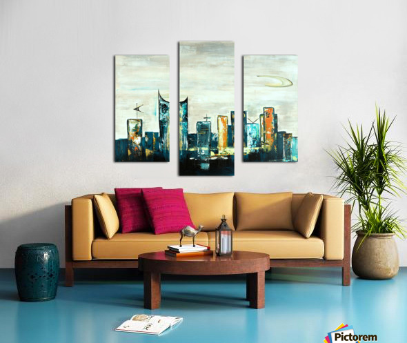 Uptown V Canvas print