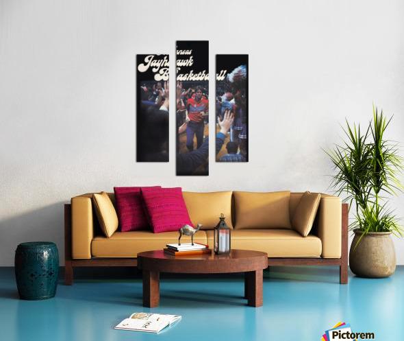 vintage kansas jayhawks basketball poster ku 1982 Canvas print