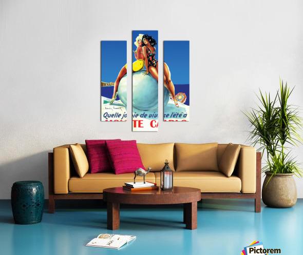 Monte carlo Canvas print
