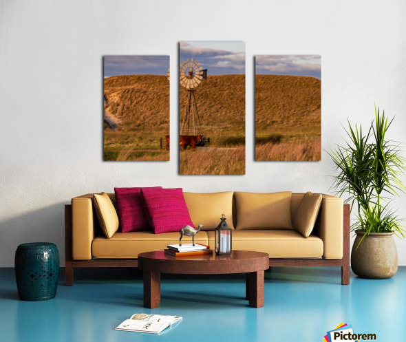 Late Afternoon Drink In The Sandhills Canvas print