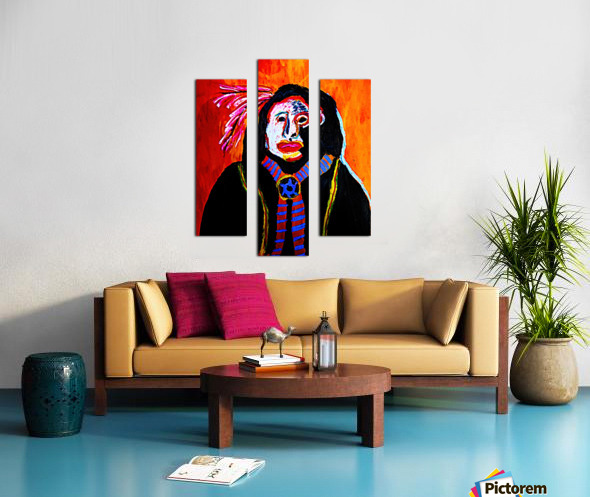 Masked Indian Canvas print