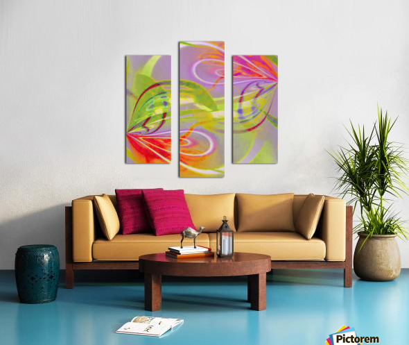 Infinity Painting Green Canvas print