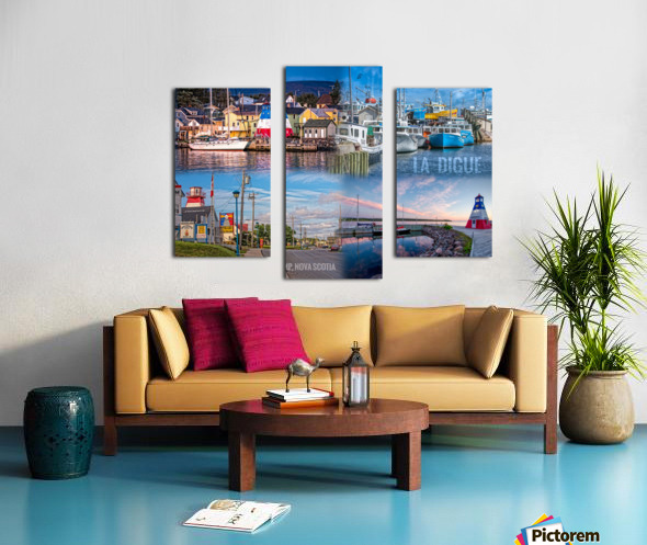 Cheticamp Collage Canvas print
