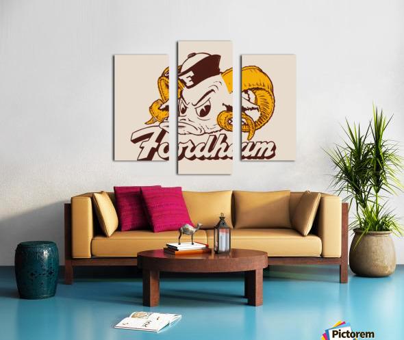vintage fordham ram mascot college art Canvas print