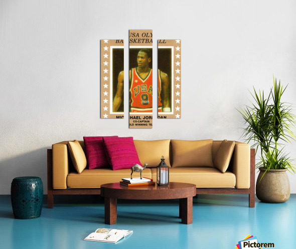 1984 USA Olympic Basketball Michael Jordan Canvas print