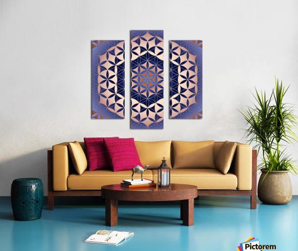 Flower of Life Mandala Pattern Canvas print