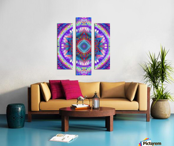 Purple Snowflake Mandala Canvas print