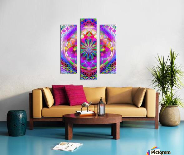 Crystal Flower Mandala Canvas print