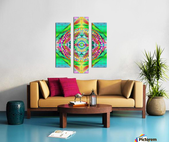 Vintage Green Mandala Canvas print