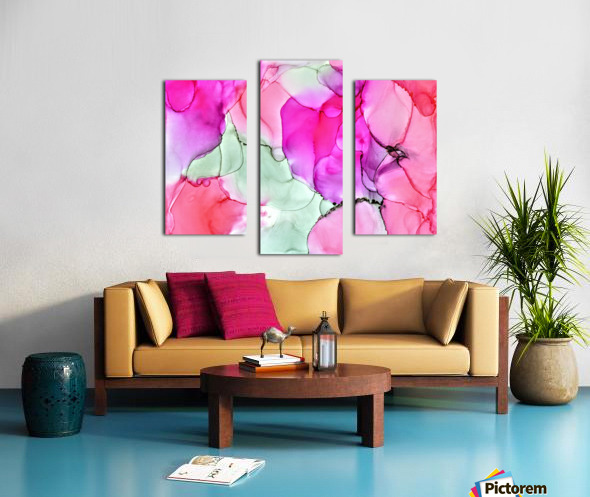 Happiness in Pink Canvas print