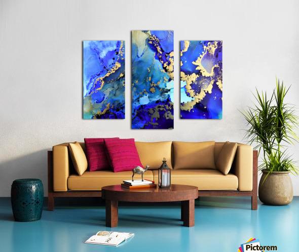 Starlight in Blue Canvas print