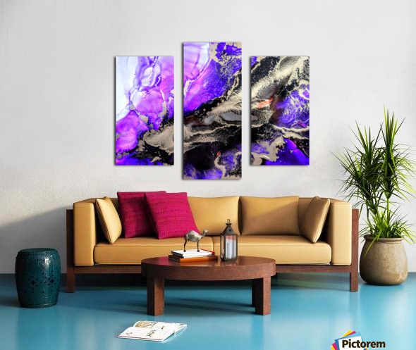Purple Mirage II Canvas print