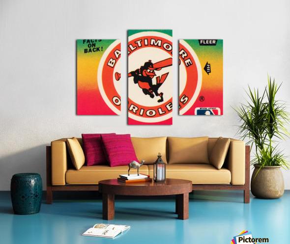 1983 fleer baseball stickers baltimore orioles wood print Canvas print