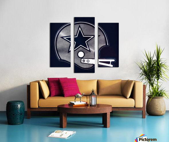 vintage dallas cowboys nfl helmet art Canvas print