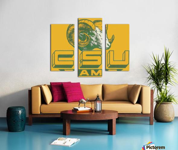 vintage colorado state university rams wood sign Canvas print