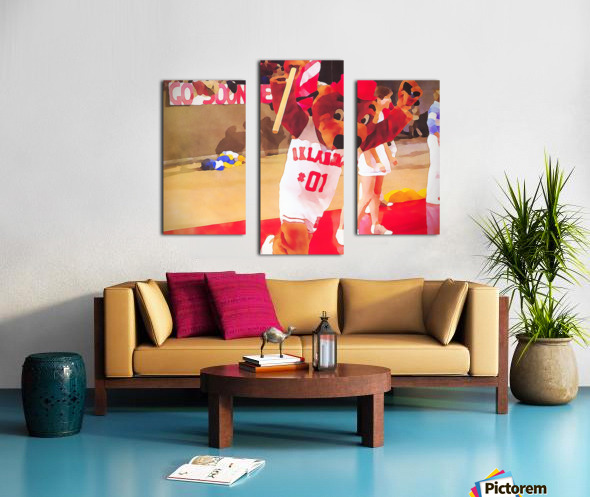 college mascot art top daug oklahoma sooners basketball art Canvas print