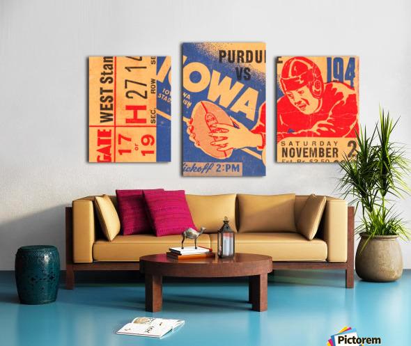 1940 Iowa vs. Purdue Canvas print