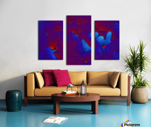 Rouge ecaille Canvas print