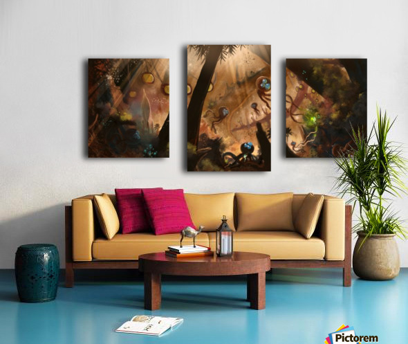 First Contact Canvas print