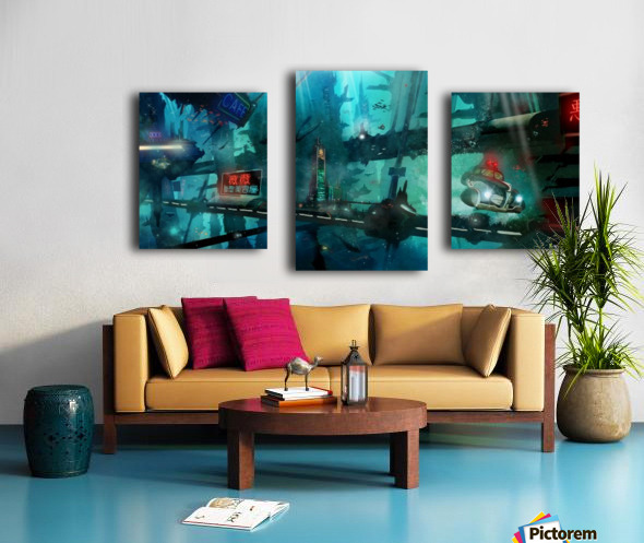 Future Noir - Abyss City Canvas print