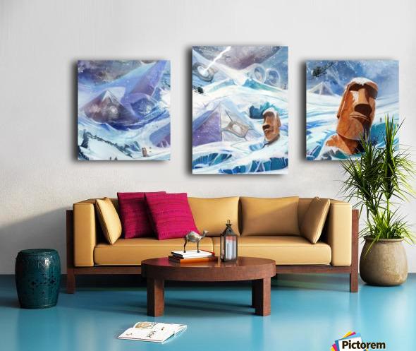 Lost Antarctida Canvas print