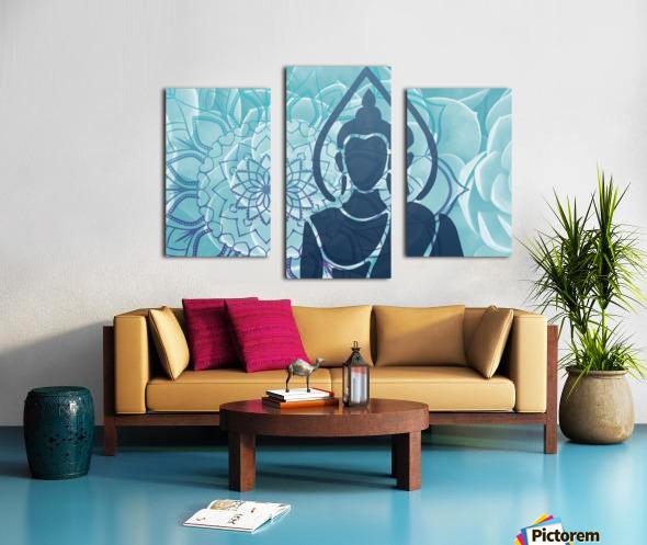 Buddha Mandala blue turqouise Canvas print