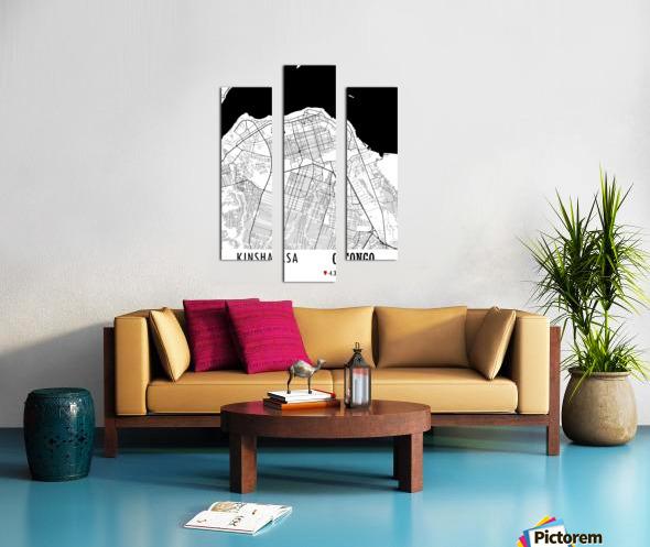 Kinshasa CONGO Canvas print