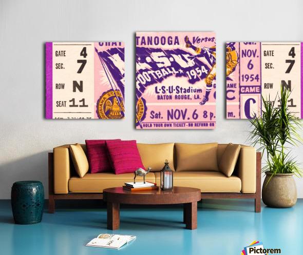 1954 lsu tigers football Canvas print