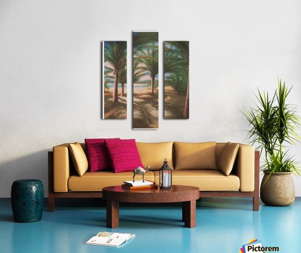 Shady beach Canvas print
