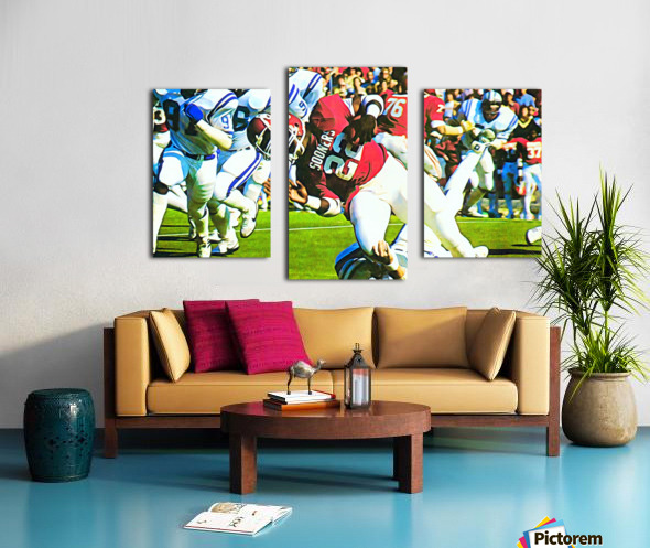 1982 Marcus Dupree Oklahoma Football Art Canvas print