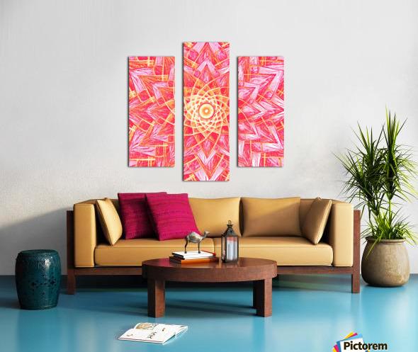 Red Flower Mandala Handdrawing  Canvas print