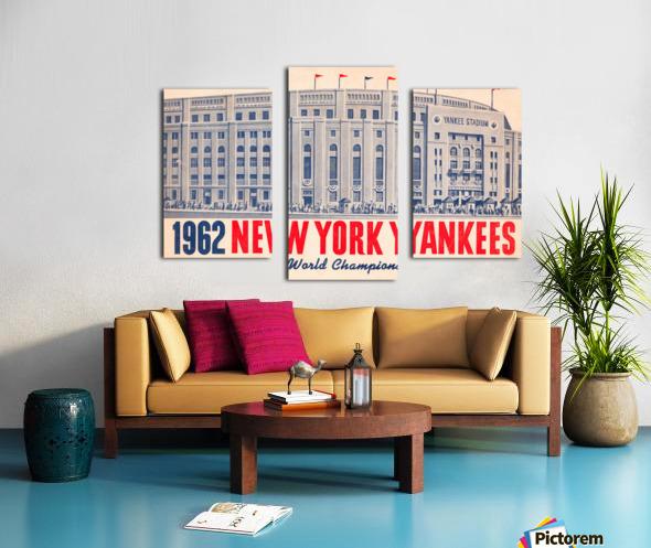 1962 new york yankees world champions Canvas print
