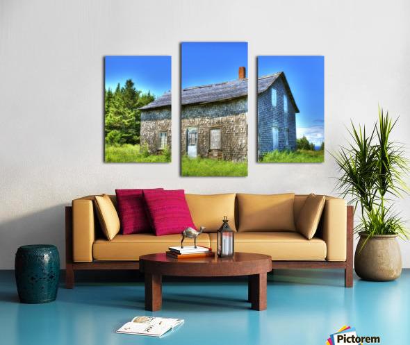 Toit bleu Canvas print