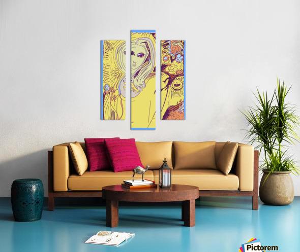 Women of Reboot Series   ⠀⠀⠀⠀⠀⠀⠀⠀⠀⠀⠀⠀ Hel Mort Canvas print