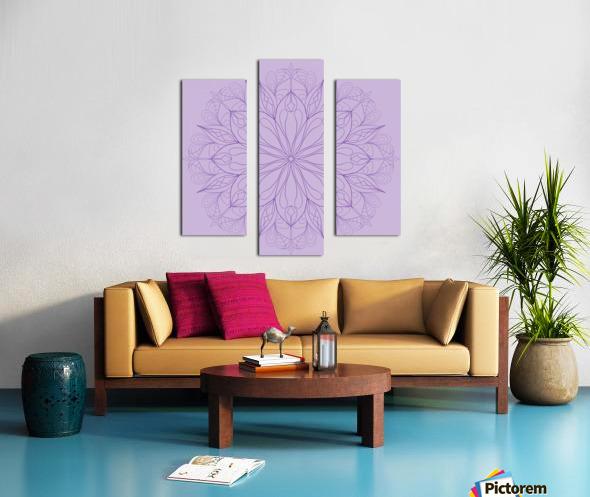 lilac mandala Canvas print