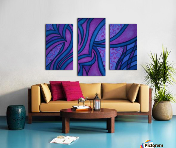 Raspberry and Blueberry Canvas print