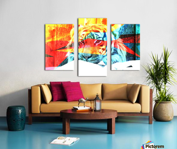 TIGER IN ABSTRACT FORM Canvas print