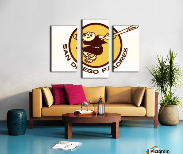 1980 san diego padres logo wall art Canvas print