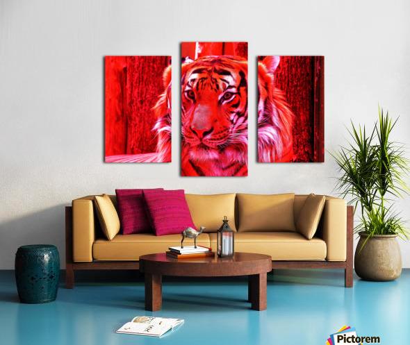 Rare Red Tiger Canvas print